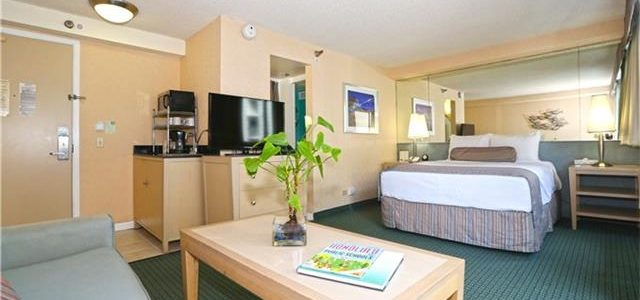 夏威夷市中心Aloha冲浪酒店房,极有投资价值
