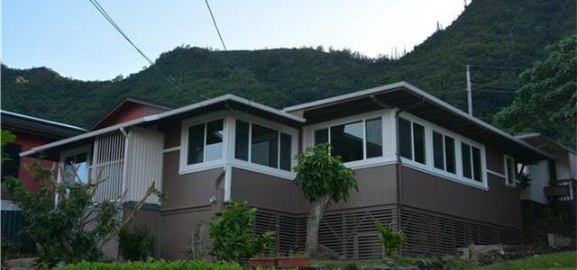 欧湖岛新改建的独栋别墅,庭院多种植物繁茂