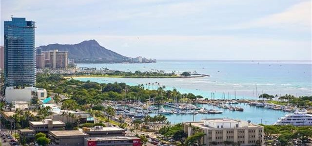 夏威夷欧胡高层公寓房,享有美丽视觉美景