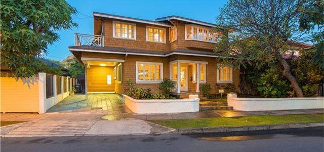 夏威夷闹市非常漂亮的独栋别墅,有一流物业,家具齐全