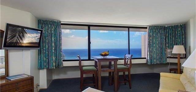 夏威夷闹市中心的酒店式公寓,38层绝好景观