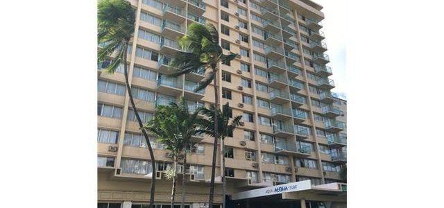 位于著名的夏威夷Aloha Surf Hotel酒店内一室户,投资好机会