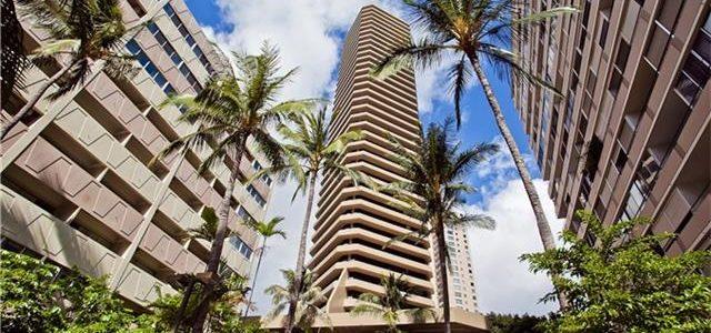 夏威夷威基基闹市酒店式海景公寓房,合适投资增值